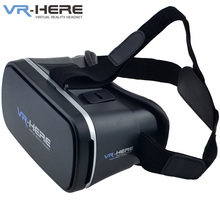 VR-HERE Virtual Reality Headset VR 3D Glasses Version 2.0 for 3.5-6.0 inch Smartphone Free Shipping 12003354