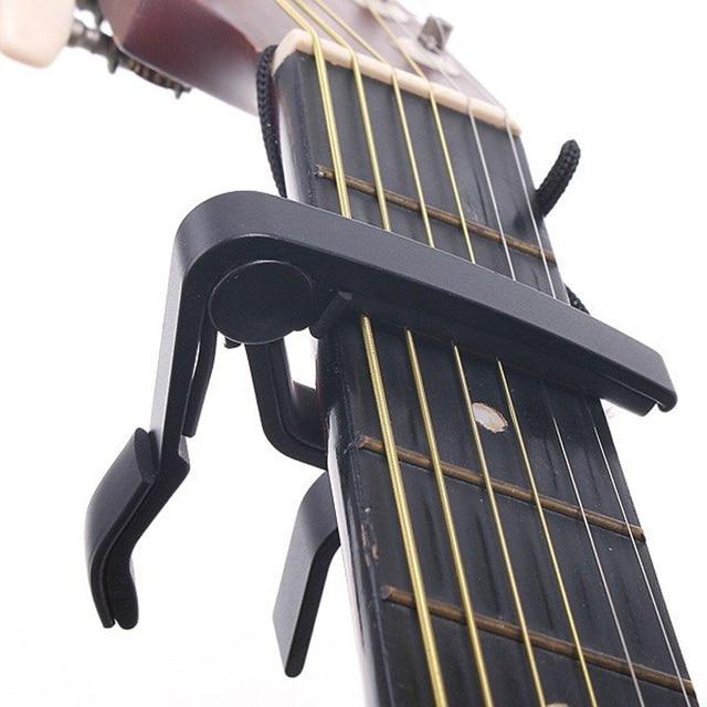 Top Quality Guitar Capo Made of Aluminium alloy Silver or Black Color Guitarra Capotraste Durable Guitar Parts