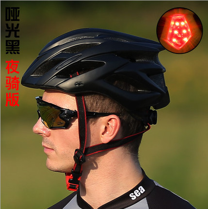 2017 new style with lights, riding helmets, integrated mountain bike, cycling equipment, men and women helmets promend mountain bike riding helmet integrated safety hat road cycling equipment for men and women