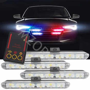 4x6LED coche camión luz de emergencia intermitente luces de bomberos 4*6 Led coche-estilismo ambulancia policía luz estroboscópica luz de advertencia cc 12V