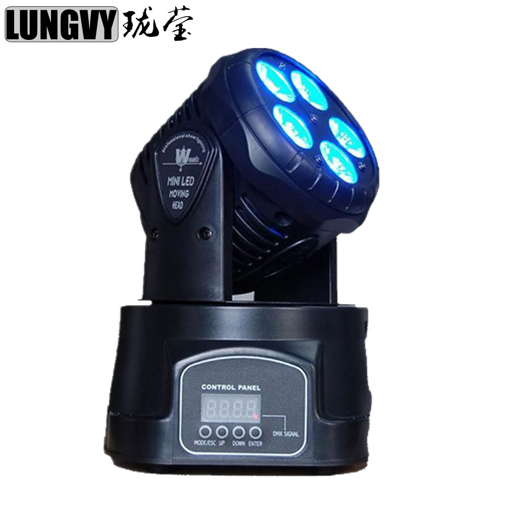 Free Shipping 5*15w Led RGBWA 5IN1 Mini Moving Head Light Disco Party Night Club Stage Lighting