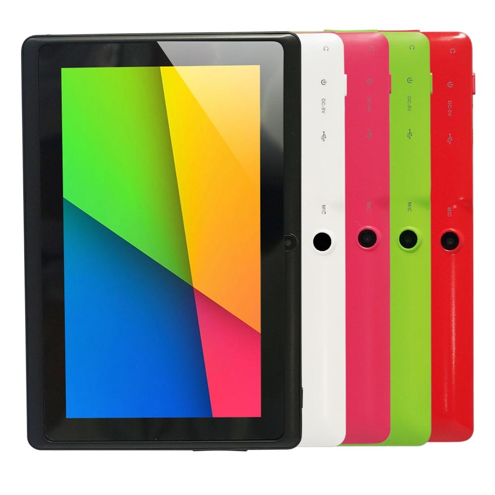 6 Colors 4GB Q88 7 inch Tablet PC Allwinner A23 Dual-core 512MB/4GB 800 x 480 Dual Camera WIFI 2500mAh tablet Price $55.46