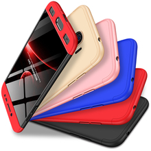 360 Degree Full Protection Hard Case For Samsung Galaxy J2 Pro Cover shockproof case + glass film