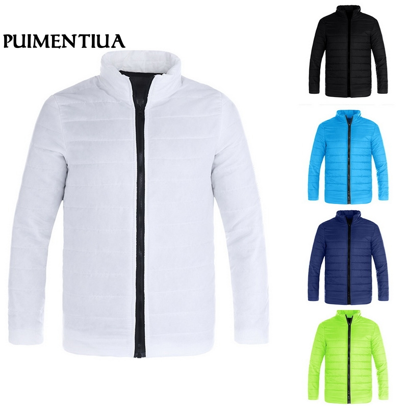 Puimentiua 2019 Winter Men Ultralight Zipper Jacket Male Solid Down Jackets Outdoors Autumn Male Casual Slim Fit Coat Oufits