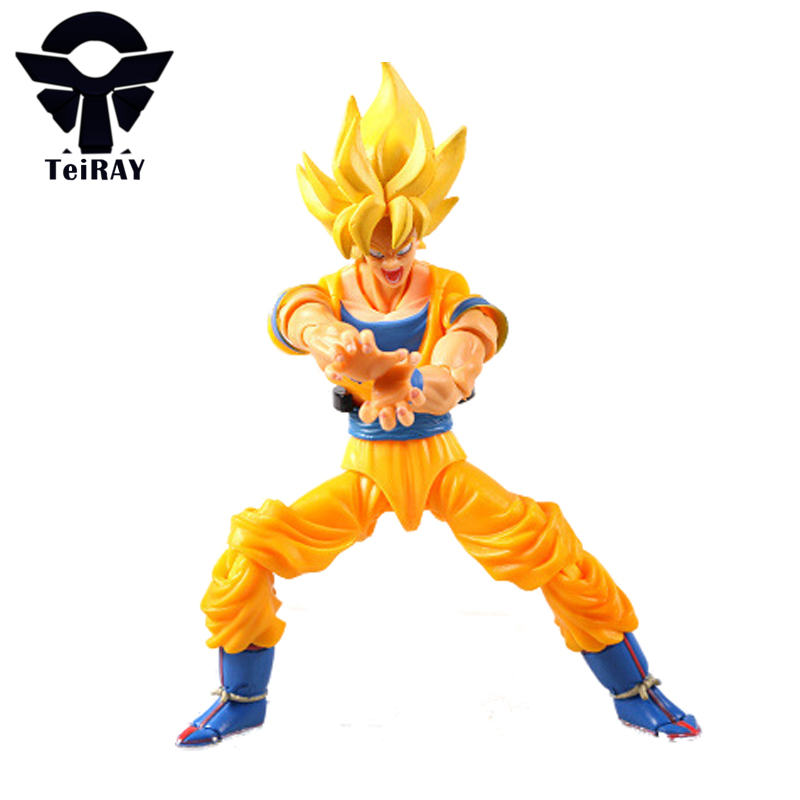 ФОТО Dragon Ball Z Super Saiyan 3 Son Goku Movable Figma 14Cm SHFiguarts Zero Pvc Anime Action Figures Kids Hot Toys for Children Boy