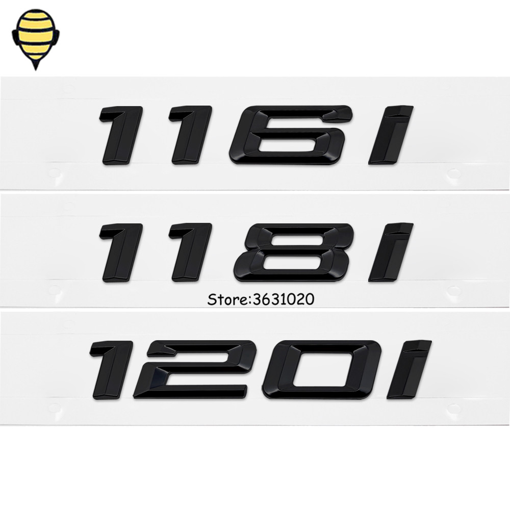 Black Car Styling Auto 3D Letter Number Trunk Lid Rear Sticker Emblem Decal Badge for BMW 1 Series 116i 118i 120i F10 F11 X1 M1 car rear trunk security shield cargo cover for volkswagen vw tiguan 2016 2017 2018 high qualit black beige auto accessories