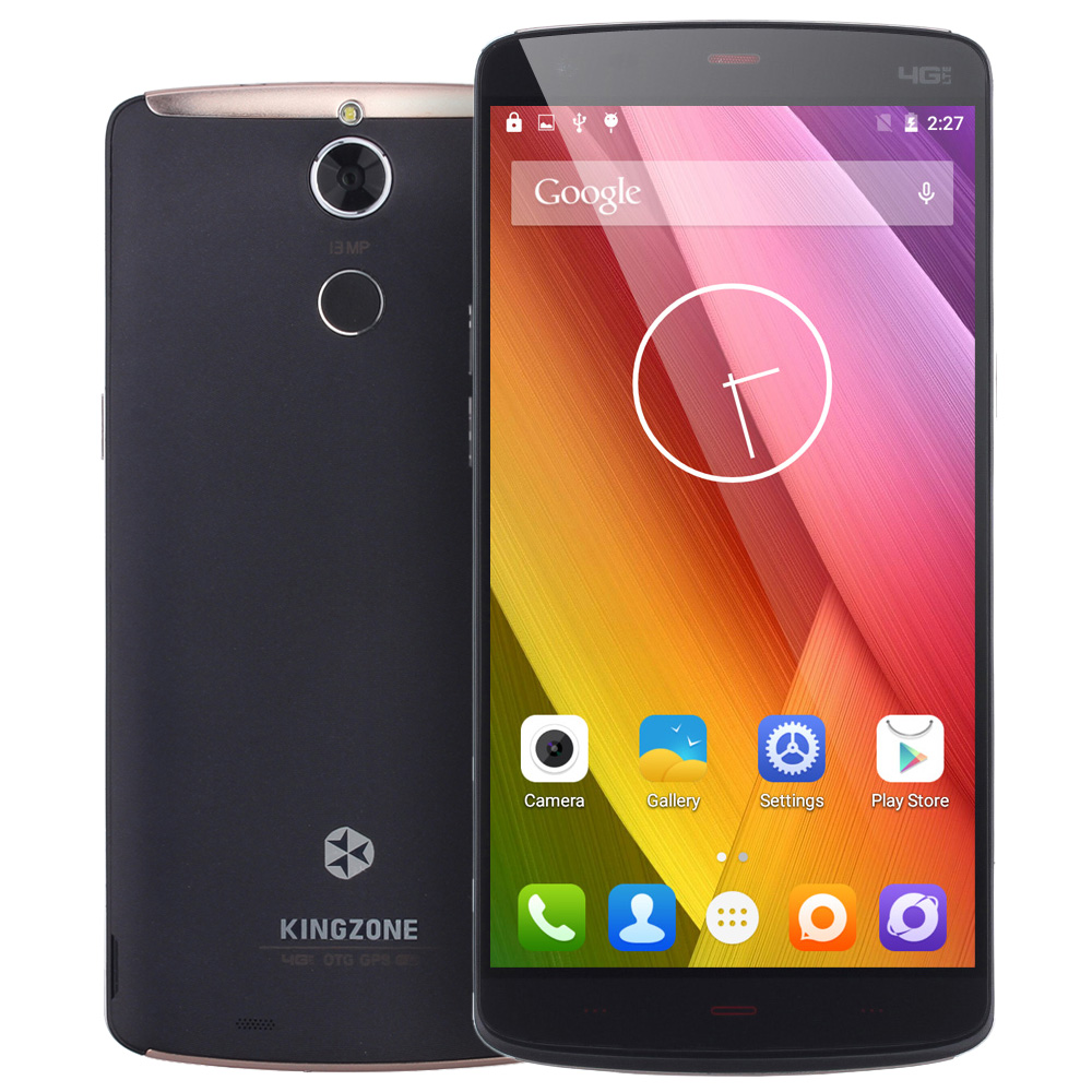 "bilder für New KINGZONE Z1 Plus 5,5 ""Android 5.1 MTK6753 Octa-core 2 GB RAM 16 GB ROM 4G LTE 13MP Fingerprint OTG 3500 mAh Batterie Telefon"