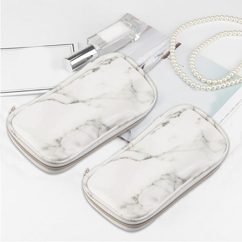 New 2019 Marble Makeup Bags Women Necessaire Feminina Portable Tote Toiletry Bag Organizer PU Leather Beauty Case Cosmetic Bag
