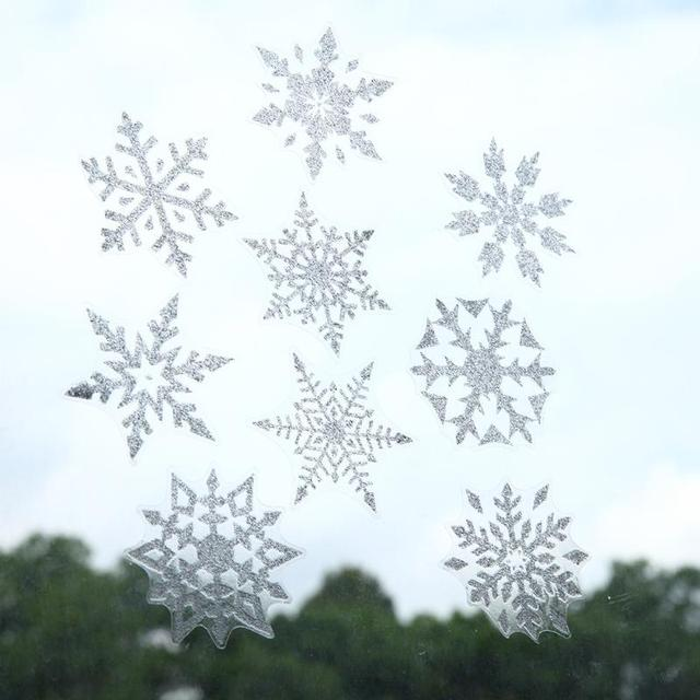 Great 6pcs Christmas Snowflake Wall Sticker Decal For Home Window Shop Glass  Decor Christmas Window Wall Decals