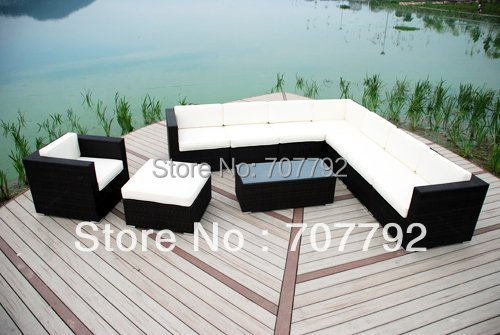 new huge chloe luxury rattan garden furniture patio sofa chair set in garden sofas from furniture on aliexpresscom alibaba group
