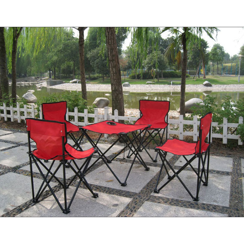 4 chairs + 1 table Outdoor Ultralight portable folding tables and chairs Fishing Chair  Camping Leisure Picnic Beach Chair the new portable outdoor folding table chairs aluminum suitcase suit