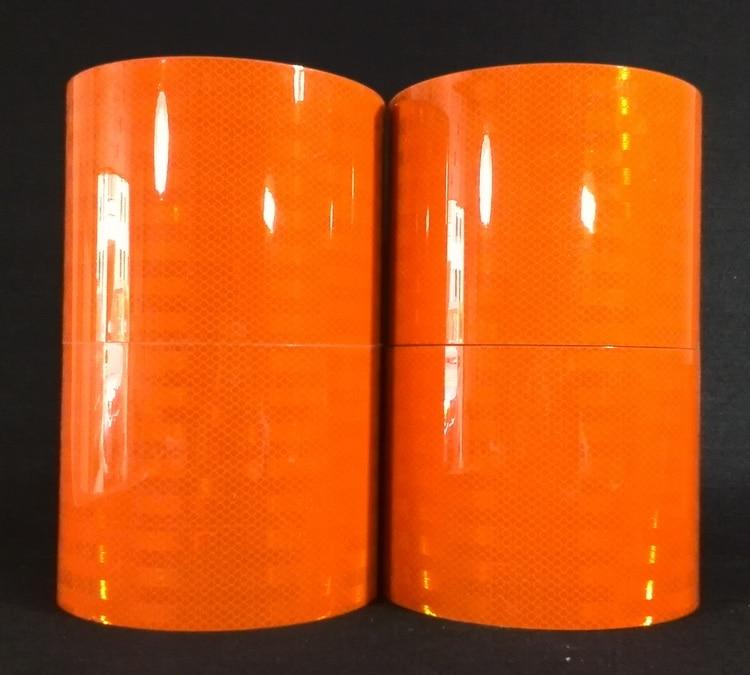15cm*1M 3M dangerous goods car reflective logo import 3934 orange reflective film reflective tape warning stickers reflective front mitsubishi shelf reflective car stickers ling yue v3 lancer car stickers