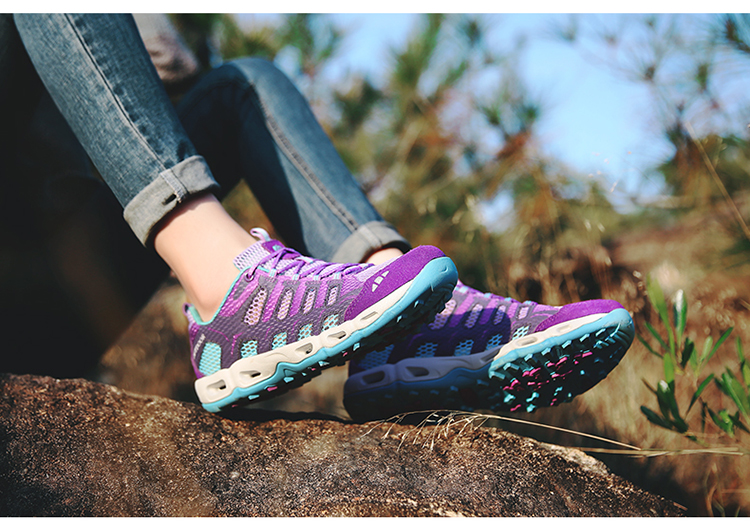 New 2017 Summer Unisex Aqua Shoes Air Mesh Clorts Outdoor Shoes Women Sneakers Lace Up Breathable Hiking Shoes Size 35-44 V1 (46)