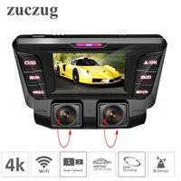 ZUCZUG 4 К скрытая Wi Fi Видеорегистраторы для автомобилей Камера Новатэк NT96660 регистраторы двойной объектив SONY IMX323 автомобиля видео Регистратор