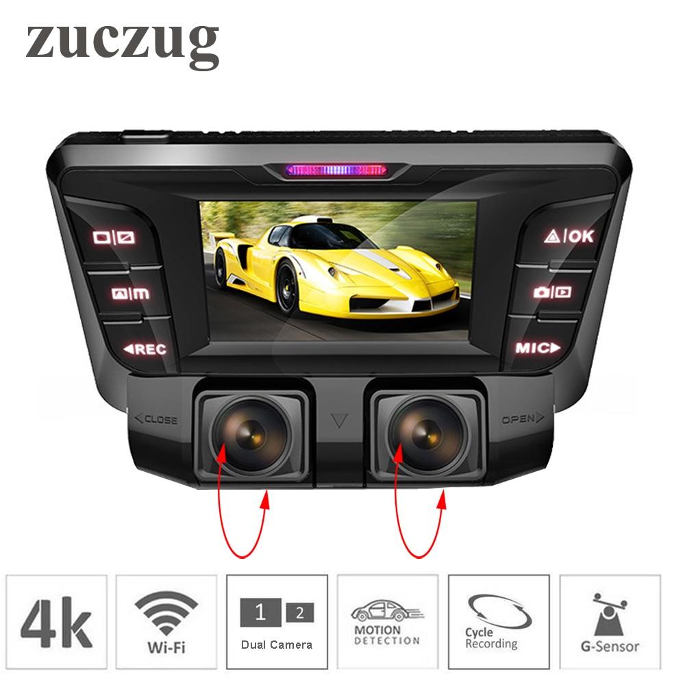 ZUCZUG 4 k cachée Wifi Voiture DVR Caméra Novatek NT96660 Dash Cam double lentille SONY IMX323 Voiture Enregistreur Vidéo Double plein 1080 p HDMI