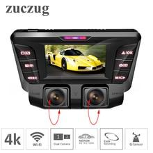 ZUCZUG 4 К скрытая Wi-Fi Видеорегистраторы для автомобилей Камера Новатэк NT96660 регистраторы двойной объектив SONY IMX323 автомобиля видео Регистраторы двойной полный 1080 P HDMI