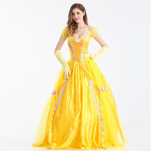 Beauty And The Beast Princess Belle Fancy Dress Halloween Party Fantasia Costume