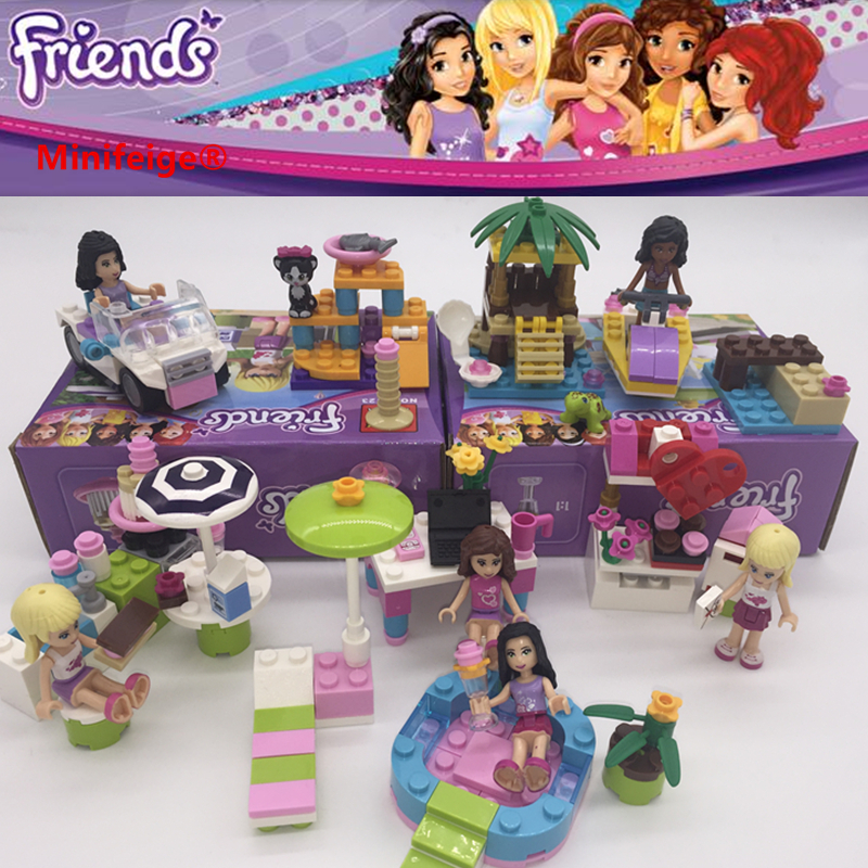 16 Sets  girls Scooters Mini figures Building Blocks Gift Fit Lego Toys