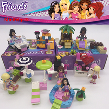 Girl Stephanie Mia Olivia Andrea Emma Andrea Blocks Learning Gift Building Blocks Gifts Toys Compatible with legoe Friends cheap PLASTIC Self-Locking Bricks 3 years old do not eat Legoings friends building block Unisex