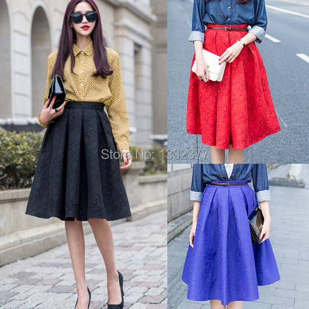Flared Midi Skirt With Pockets | Jill Dress