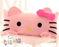Free shipping 1pc 60cm holiday sale children gift super cute hello kitty pink cat pillow creative plush cushion stuffed toy
