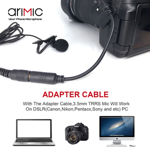 Image 4 - Arimic Lavalier Lapel Clip on Omnidirectional Condenser Microphone Kit with cable adapter & windshield for iPhone Samsung