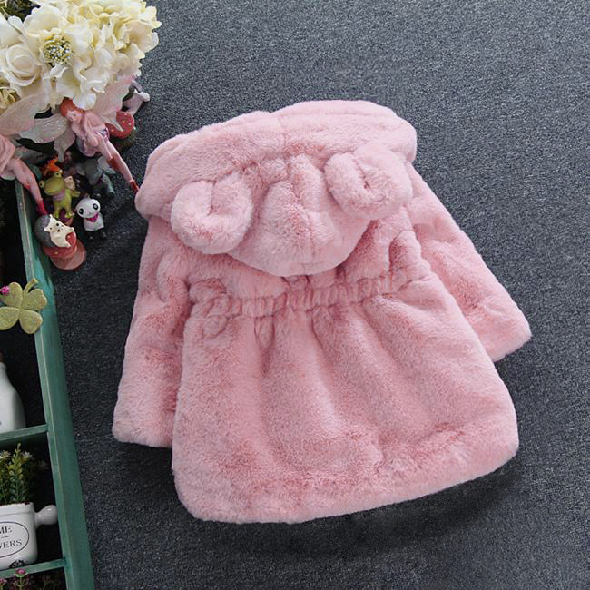 Image 5 - 2019 New Winter Baby Girls Clothes Faux Fur Fleece Coat Pageant Warm Jacket Xmas Snowsuit 1 8Y Baby Hooded Jacket Outerwear-in Jackets & Coats from Mother & Kids