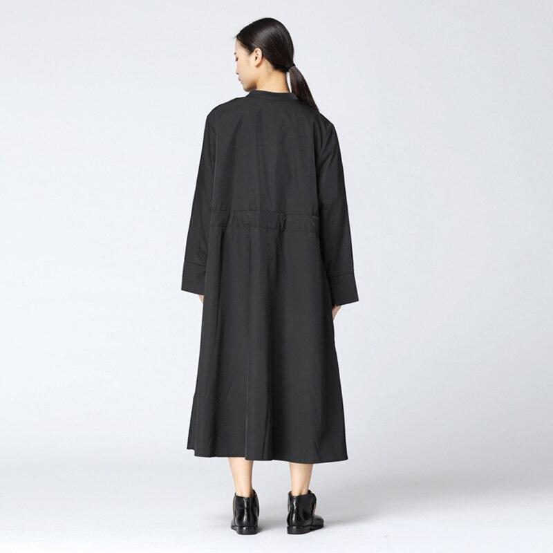 Kadın Giyim'ten Siper'de CHICEVER Sonbahar kadın Ceket Yüksek Bel Dantel Up Mandarin Yaka Uzun Kollu Gevşek Boy Kadın Mont 2019 Moda Gelgit yeni'da  Grup 2