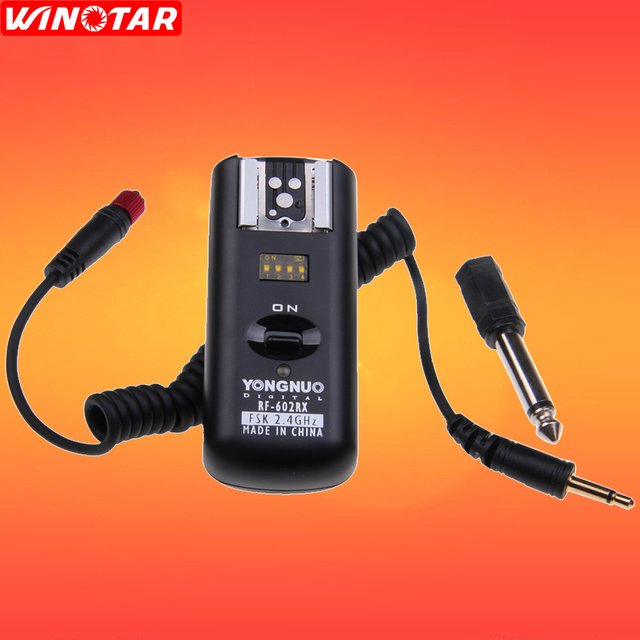 YONGNUO RF602 RF 602 2.4GHz Flash Wireless Receiver for Canon Nikon DSLR Camea