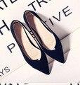 2016 новые обувь высокого качества удобные замшевые новый колючие резиновые недвижимости пальца ноги плоские туфли H055