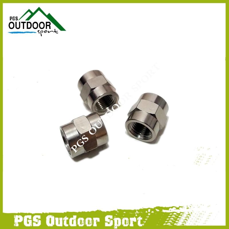 PCP Air Gun Paintball Air Fitting 3pcs Hose Pipe Hex Nipple Fitting Double 1/8