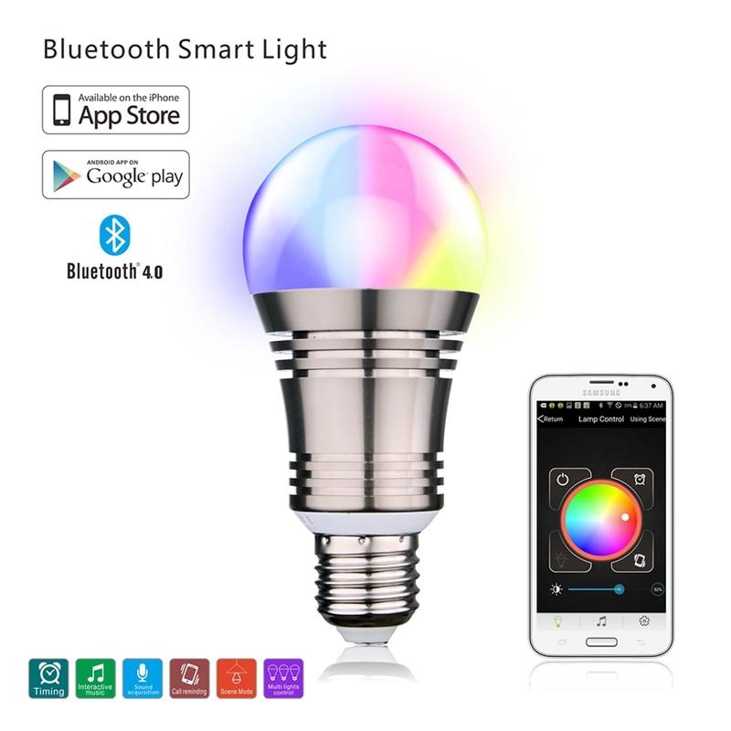 Smart Bluetooth LED SU-650 Bulb E27 RGBW Remote Control Color Changing Light Rom