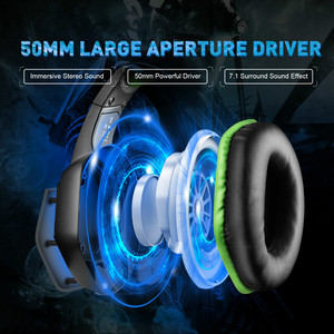 Image 2 - EKSA E1000 Gaming Headphones With Noise Cancelling Microphone RGB Light 7.1 Surround Sound Wired Gaming Headset Gamer For PS4 PC