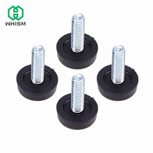 WHISM 4pcs Table Chair Sofa Cabinet Adjustable leveling Leg Feet Glide Slide Leveler Base Screw-in Furniture Accessory(China)