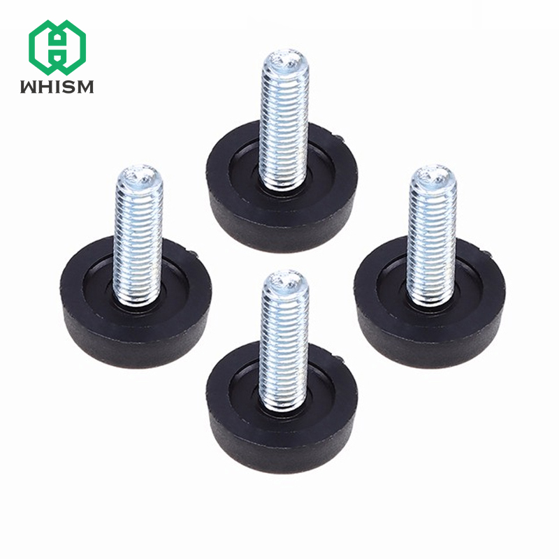 WHISM 4pcs Table Chair Sofa Cabinet Adjustable Leveling Leg Feet Glide Slide Leveler Base Screw-in Furniture Accessory