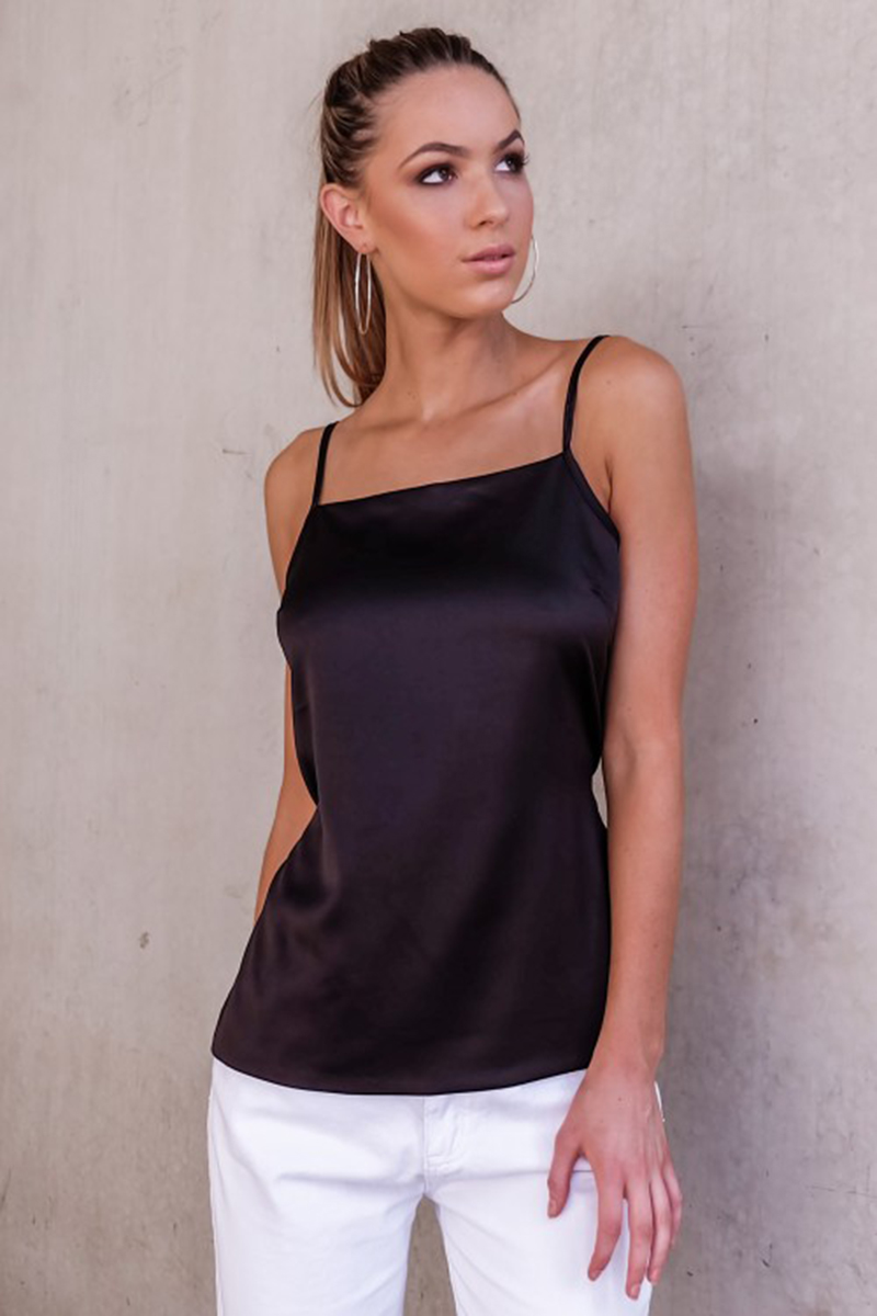 Fashion Ladies Summer Sext Casual Bow Satin Sleeveless -9823