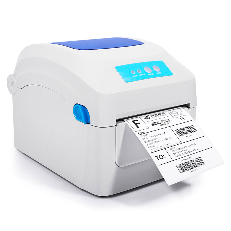 Barcode printers clothing label 203dpi Support 108mm Width printing electronic surface by thermal bar code printers For GP1324D supermarket direct thermal printing label code printer