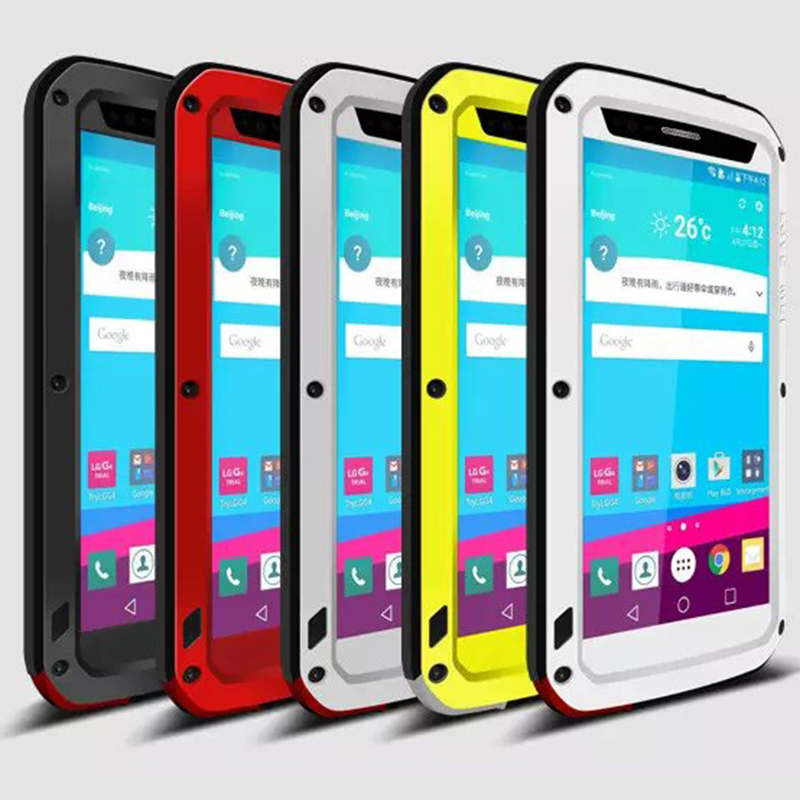Fashion Powerful Cases for LG G4 Waterproof Case Dirt Proof Shockproof Cover for LG G4 Tempered