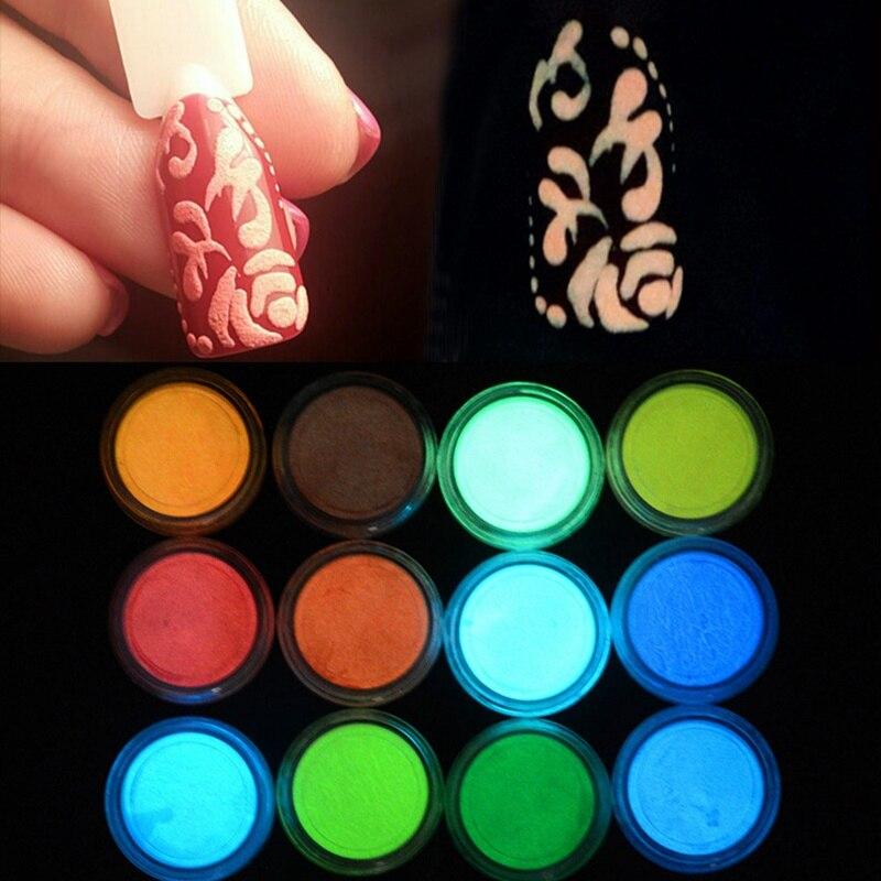 1 Box Neon Phosphor Pulver Nagel Glitter Pulver 10 Farben Staub Leucht Pigment Leuchtstoff Pulver Nagel Glitters Glow In Die Dark Von Der Konsumierenden öFfentlichkeit Hoch Gelobt Und GeschäTzt Zu Werden Nagelglitzer