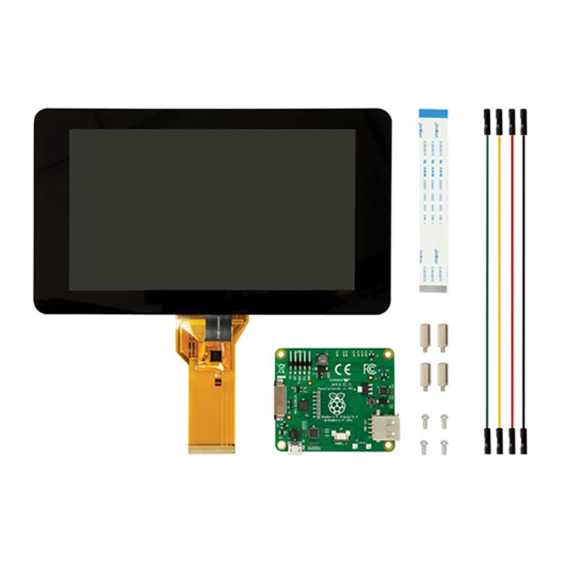 Newest 7inch Touch screen <font><b>Display</b></font> 10-fingers 800 x 480 Touch Screen For <font><b>Raspberry</b></font> <font><b>Pi</b></font> 3-B /2-B/B+/A+ image
