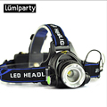 CREE T6 LED Water Resistant Headlight Headlamp 2000LM Powered Head Lamp Torch LED Flashlights Biking Fishing Torch