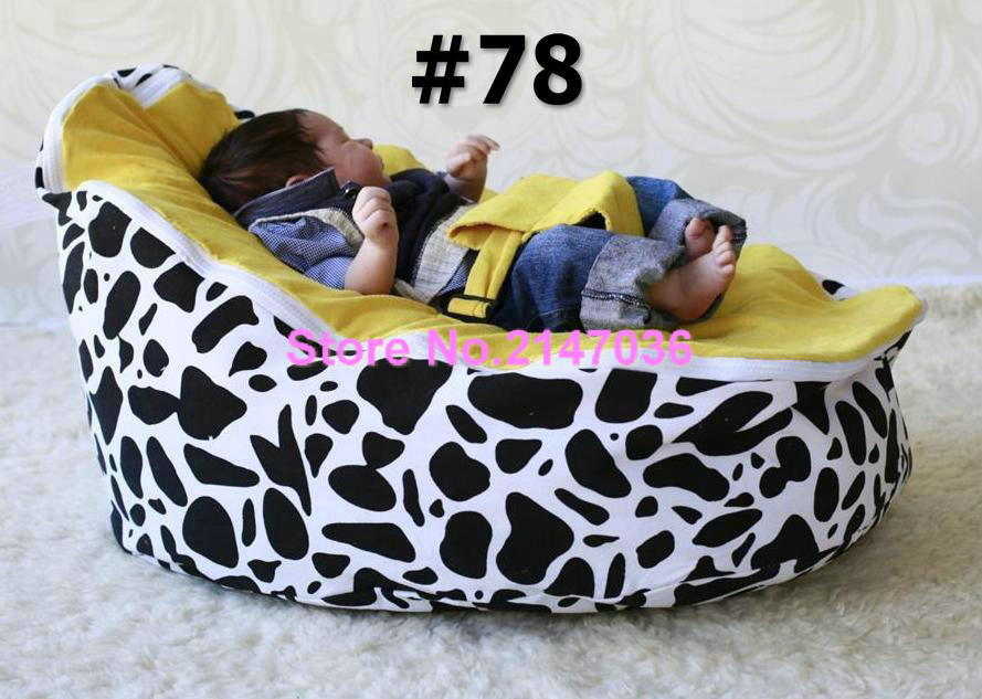 cotton canvas COW and Blue dots custom print baby bean bag chairs wholesale - children beanbag floor chairs blue sky and water frameless printed canvas art print 4pcs