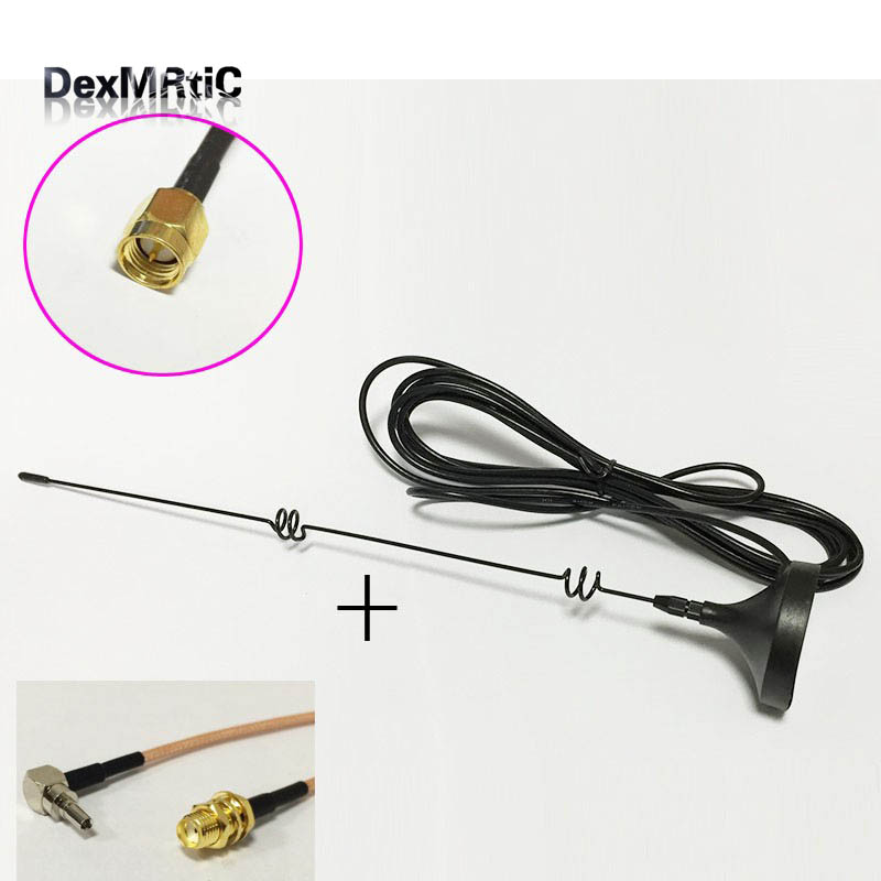 1pc 3G 4G GSM antenna 6dbi magnetic base SMA male Extension Cable 3m + 1pc CRC9 right angle to SMA Female RG316 Cable 15CM стоимость