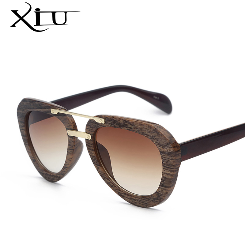 wood sunglasses vintage brand designer sun glasses