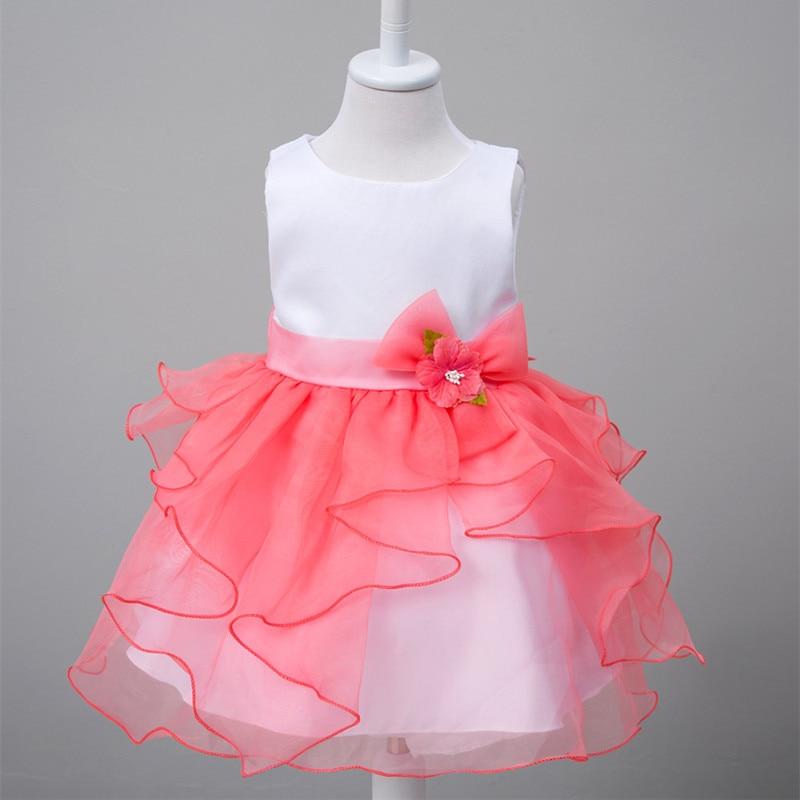 10cf5b73a3776 トップ品質子供女の子ドレス赤ちゃん服式典パーティードレス女の子服プリンセスキッズコスチューム結婚式洗礼e609
