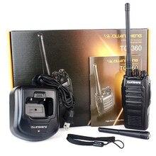 New Radio Walkie Talkie QuanSheng TG-360/TG360 16CH 7W UHF 400-480MHz Two Way Radio Black