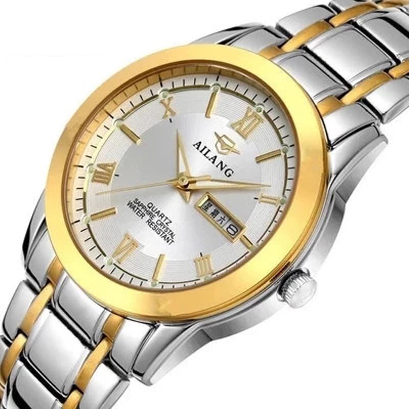 Waterproof date quartz clock male male sports watch men's watch the best brand AILANG30M ultra thin steel watch strap watch steel strap number quartz date watch