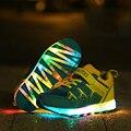 Carregamento usb luminous shoes crianças shoes com luz new arrivals moda sneaker chaussure diodo emissor de luz do flash colorido venda quente