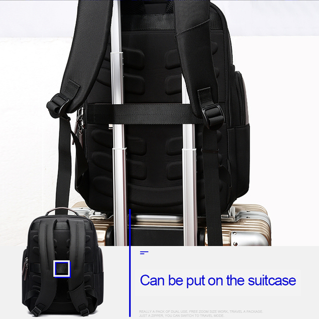 BOPAI Multifunction Large Capacity Laptop Backpack Anti Theft Fashion Men Shoulders Bag Travel Backpack Waterproof Drop Shipping 3