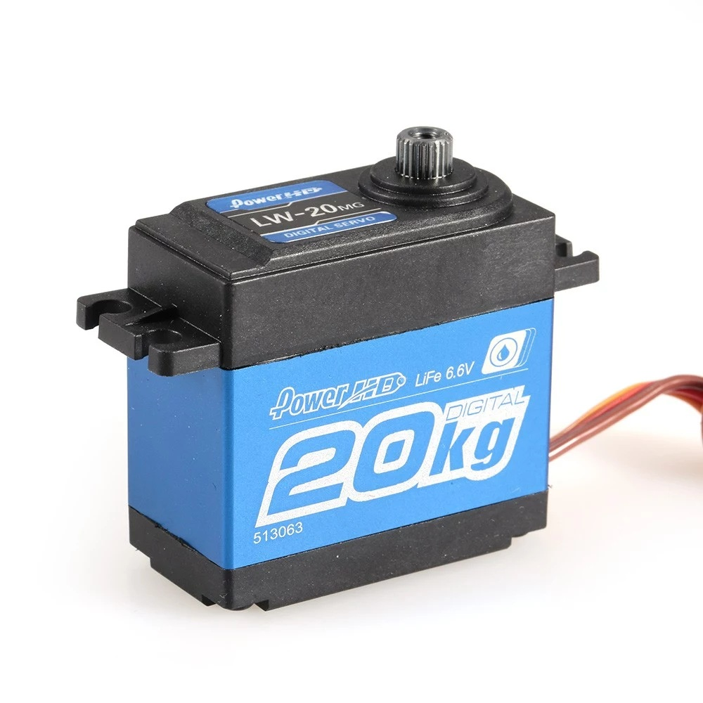 20Kg Waterproof High Torque Metal Gear Digital Servo for RC Car 1/10 1/8 Off-road Car Buggy Crawler TRX-4 SCX10 D90 RC Car Parts hsp 02024 differential diff gear complete 38t for 1 10 rc model car spare parts fit buggy monster